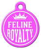 Dog Tag Art Feline Royalty Pet ID Dog Tag