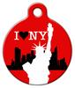 Dog Tag Art I Love New York Pet ID Dog Tag