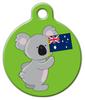 Dog Tag Art Koala Australian Flag Pet ID Dog Tag