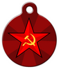 Dog Tag Art Russian Star Pet ID Dog Tag