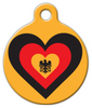Dog Tag Art Germany Heart Pet ID Dog Tag