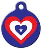 Dog Tag Art America Heart Flag Pet ID Dog Tag