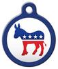 Dog Tag Art Democratic Donkey Pet ID Dog Tag