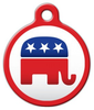 Dog Tag Art Republican Elephant Pet ID Dog Tag