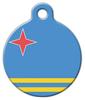 Dog Tag Art Aruba's National Flag Pet ID Dog Tag