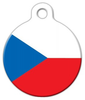 Dog Tag Art The National Flag of the Czech Republic Pet ID Dog Tag