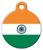 Dog Tag Art Indian National Flag Pet ID Dog Tag