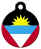 Dog Tag Art National Flag of Antigua & Barbuda Pet ID Dog Tag