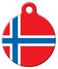 Dog Tag Art Norweigian Flag Pet ID Dog Tag