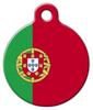 Dog Tag Art Portugal National Flag Pet ID Dog Tag