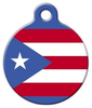Dog Tag Art Puerto Rican Flag Pet ID Dog Tag