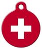 Dog Tag Art Swiss Flag Custom Pet ID Dog Tag