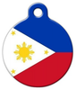 Dog Tag Art National Flag of the Philippines Pet ID Dog Tag