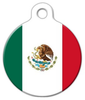Dog Tag Art Official Flag of Mexico Pet ID Dog Tag