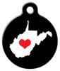 Dog Tag Art West Virginia State Love Pet ID Dog Tag