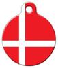Dog Tag Art Denmark Flag Pet ID Dog Tag