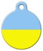 Dog Tag Art Flag of Ukraine Pet ID Dog Tag