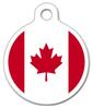 Dog Tag Art Canadian Flag Pet ID Dog Tag