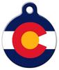 Dog Tag Art Colorado Flag Pet ID Dog Tag