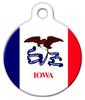 Dog Tag Art Iowa Flag Pet ID Dog Tag