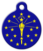Dog Tag Art Indiana Flag Pet ID Dog Tag