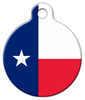 Dog Tag Art Texas Flag Pet ID Dog Tag