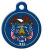 Dog Tag Art Utah Flag Pet ID Dog Tag