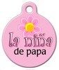Dog Tag Art La Nina de Papa Pet ID Dog Tag