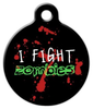 Dog Tag Art Zombie Fighter Pet ID Dog Tag