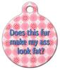 Dog Tag Art Fat Ass Pet ID Dog Tag
