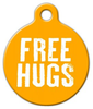Dog Tag Art Free Hugs Pet ID Dog Tag