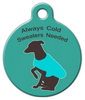 Dog Tag Art Always Cold Sweaters Needed Pet ID Dog Tag