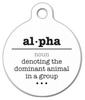 Dog Tag Art Alpha Word Definition Pet ID Dog Tag