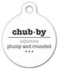 Dog Tag Art Chubby Word Definiton Pet ID Dog Tag