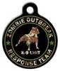 Dog Tag Art Zombie Response K9 Unit Camo Pet Pet ID Dog Tag