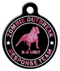 Dog Tag Art Zombie Response K9 Camo Pink Pet ID Dog Tag