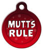 Dog Tag Art Mutts Rule Pet ID Dog Tag