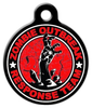 Dog Tag Art Zombie Outbreak Response Team Hand in Red Pet ID Dog Tag
