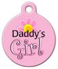 Dog Tag Art Daddy's Girl Pet ID Dog Tag