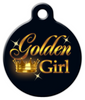 Dog Tag Art Golden Girl Pet ID Dog Tag