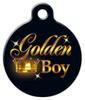 Dog Tag Art Golden Boy Pet ID Dog Tag
