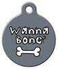 Dog Tag Art Wanna Bone? Pet ID Dog Tag