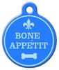 Dog Tag Art Bone Appetit Pet ID Dog Tag