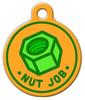 Dog Tag Art Nut Job Pet ID Dog Tag