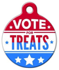 Dog Tag Art Vote for Treats Pet ID Dog Tag