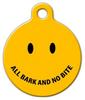 Dog Tag Art All Bark No Bite Pet ID Dog Tag