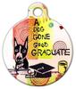 Dog Tag Art Good Graduate Pet ID Dog Tag