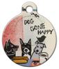 Dog Tag Art Doggone Happy Pet ID Dog Tag