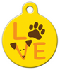 Dog Tag Art Dog Love Graphic Pet ID Dog Tag