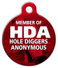Dog Tag Art Hole Diggers Anonymous Pet ID Dog Tag
